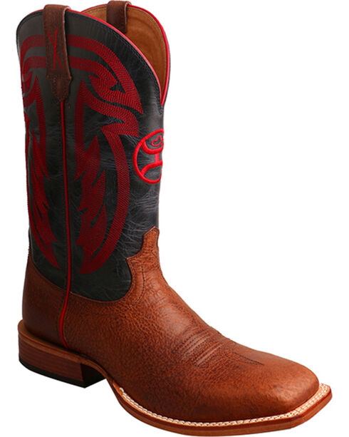 HOOey by Twisted X Men's Distressed Western Boots, Brown, hi-res