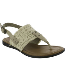 Minnetonka Women's Panama Sandals, Natural, hi-res