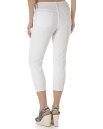 Wrangler Retro® Women's White Crop Jeans - Mid Rise, , hi-res