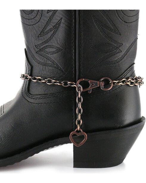 Shyanne® Women's Horseshoe Boot Bracelet, Brown, hi-res
