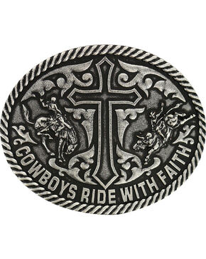 Cody James® Men's Ride with Faith Belt Buckle, Dark Grey, hi-res