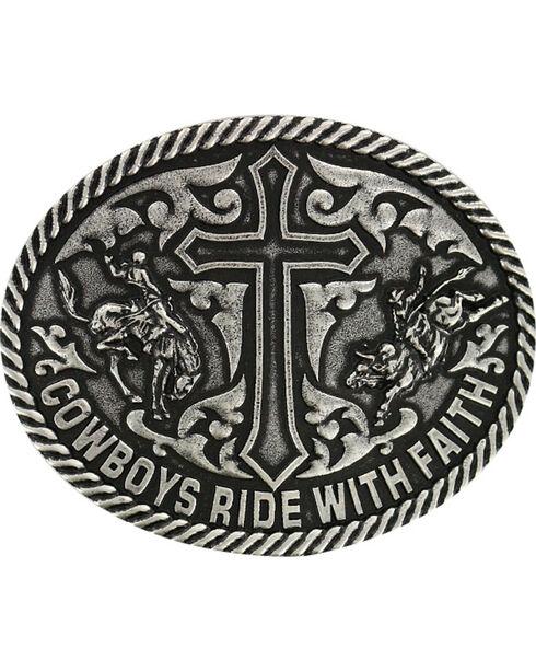 Cody James® Men's Ride with Faith Belt Buckle, Dark Grey, hi-res