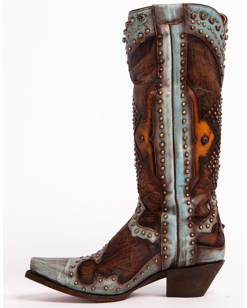 Dan Post Women's Natasha Studded Western Boots, Brown, hi-res