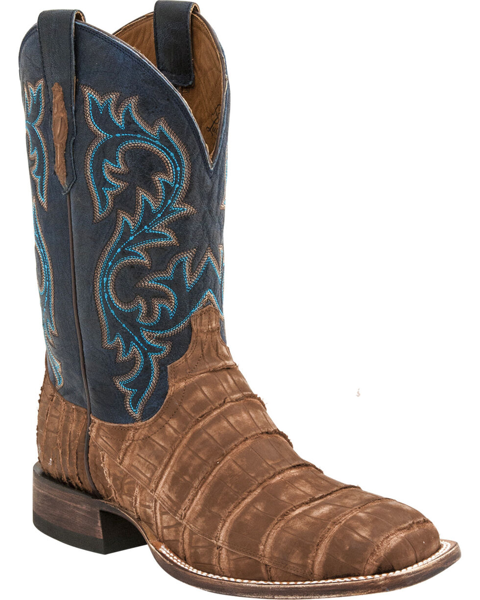 Lucchese Men's Malcolm Alligator Exotic Boots, Tan, hi-res