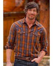 Ryan Michael Men's Ombre Dobby Plaid Shirt , , hi-res