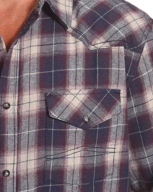 Cody James® Men's Plaid Printed Long Sleeve Shirt , Grey, hi-res
