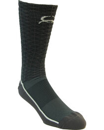 Cinch Men's Charcoal Mesh Crew Socks , , hi-res