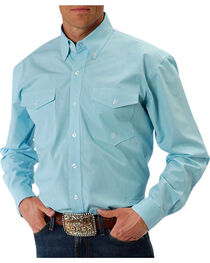 Roper Men's Aquamarine Western Shirt, , hi-res