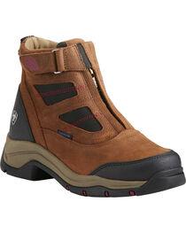Ariat Women's Terrain Pro Zip H2O Brown Waterproof Boots - Round Toe, , hi-res