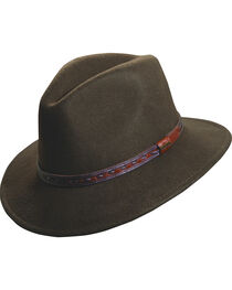 Scala Crushable Wool Outback Hat, , hi-res