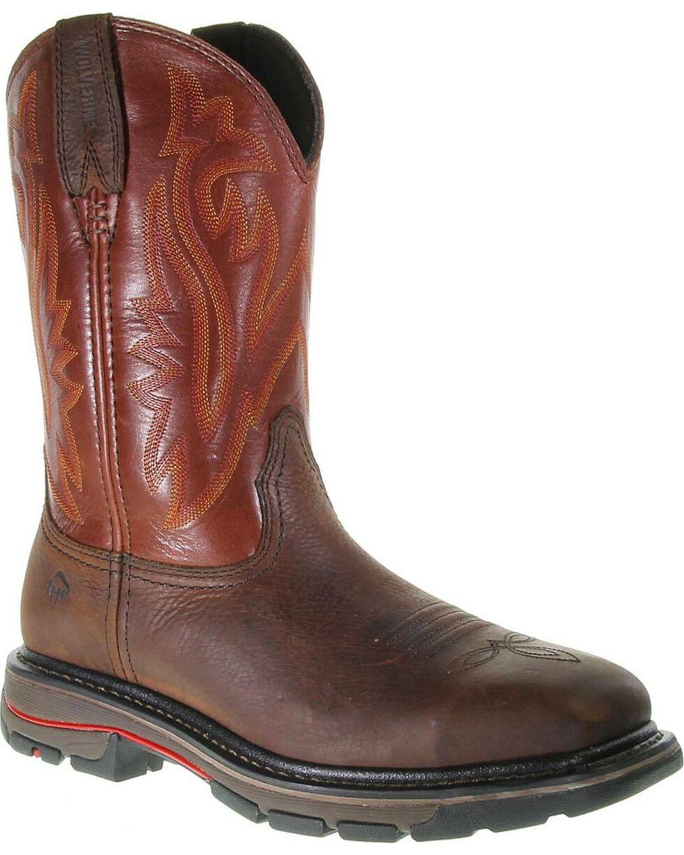 Wolverine Men's Javelina Steel Toe Work Boots, Dark Brown, hi-res