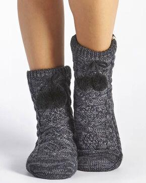 UGG® Women's Pom-Pom Knit Crew Socks, Grey, hi-res