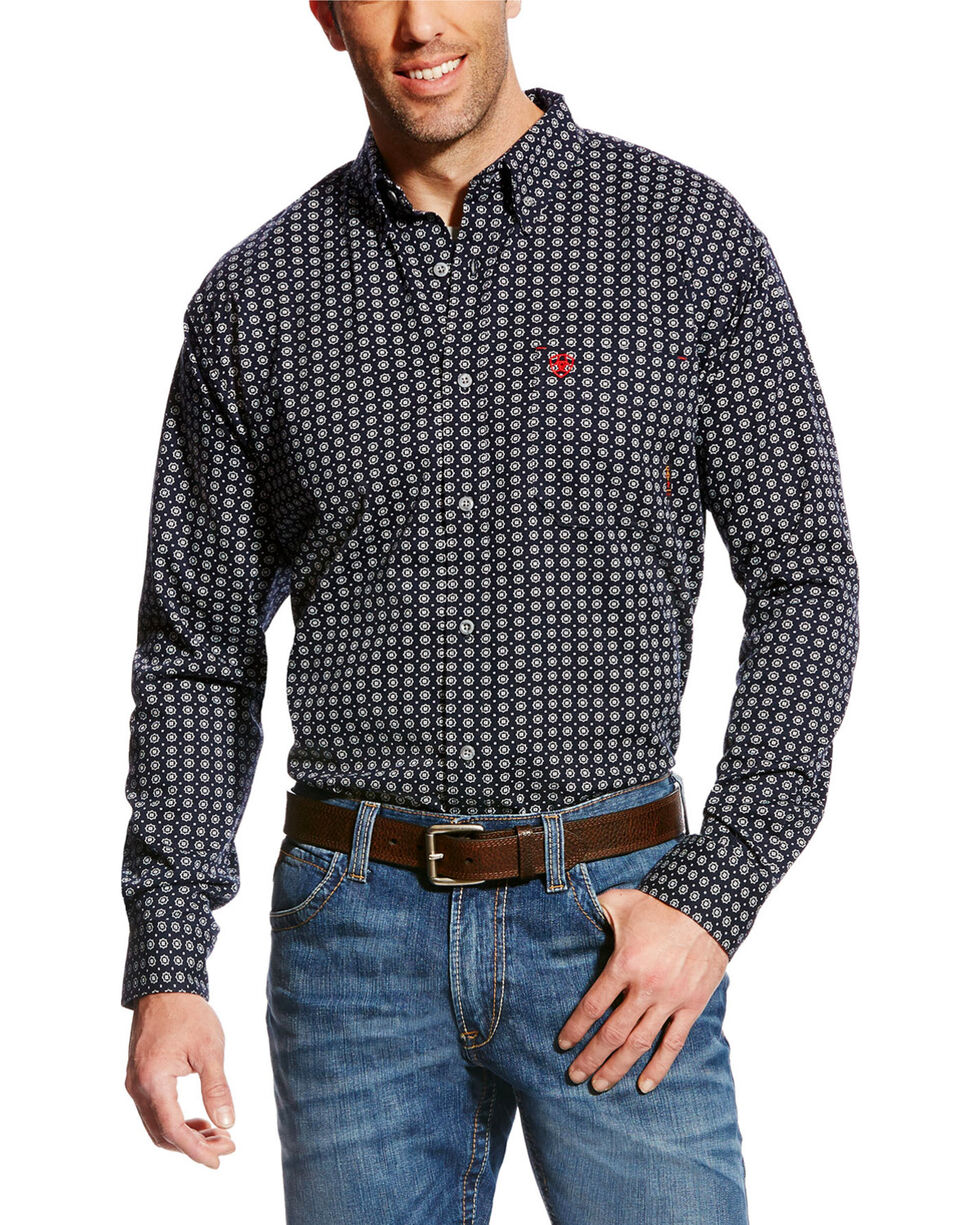 Ariat Men's FR Stark Geo Print Work Shirt, Multi, hi-res