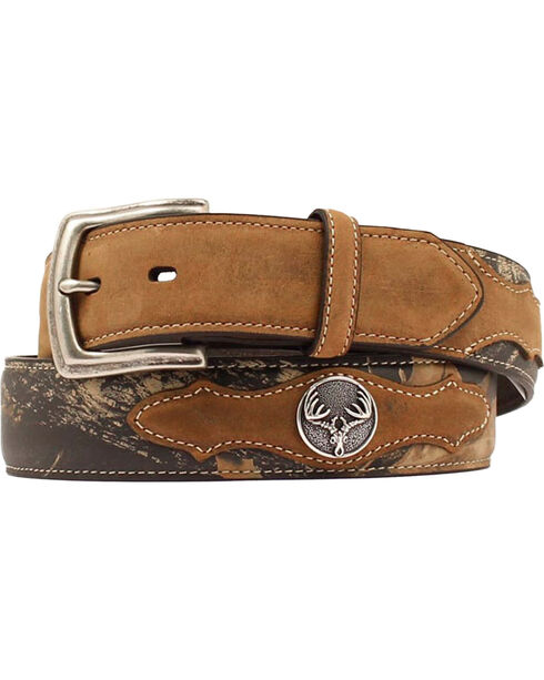 Nocona Men's Mossy Oak Underlay Western Belt, Assorted, hi-res