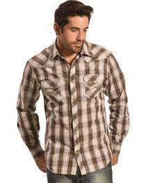 Ely Men's 1878 Brown Plaid Western Shirt , , hi-res