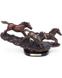 Big Sky Carvers Freedom Galloping Horses Sculpture, , hi-res