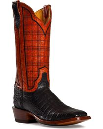 Cinch Black Caiman Stained Glass Embroidered Cowgirl Boots - Square Toe, , hi-res