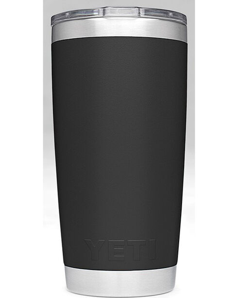 Yeti Black 20oz Sliding Lid Rambler , Black, hi-res