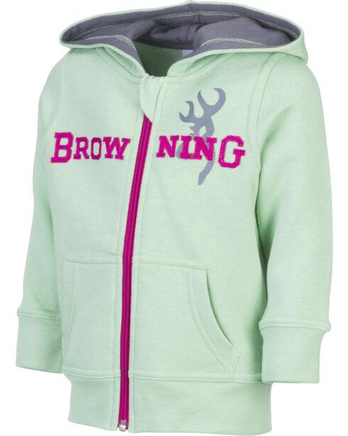 Browning Toddler Girls' Green Otter Sweatshirt , Green, hi-res