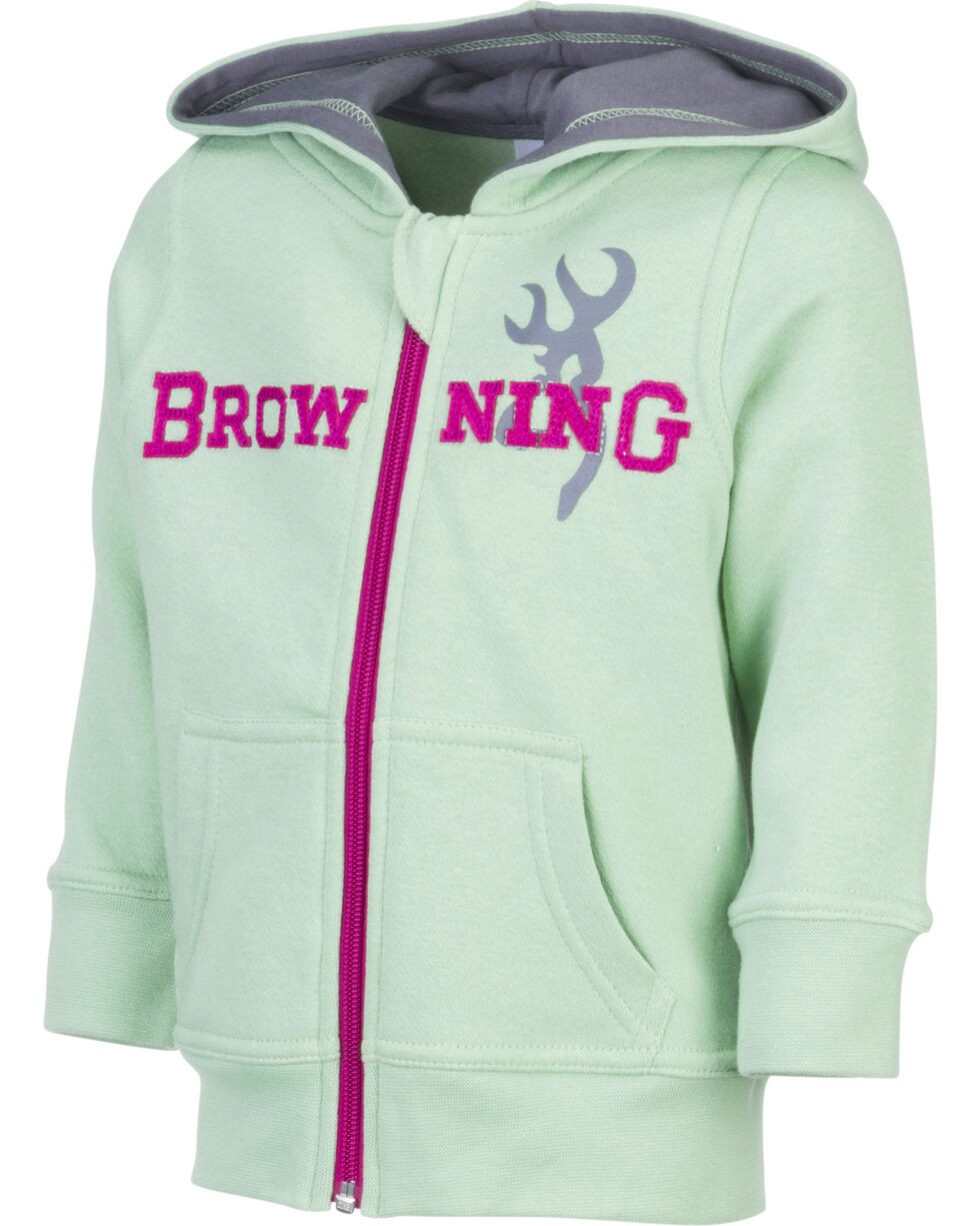 Browning Toddler Girls' Green Otter Sweatshirt , Green, hi-res