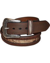 G Bar D Men's Brown Camo Overlay Belt, , hi-res