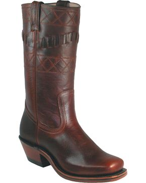 "Boulet Women's Motorcycle 12"" Boots, Brown, hi-res"
