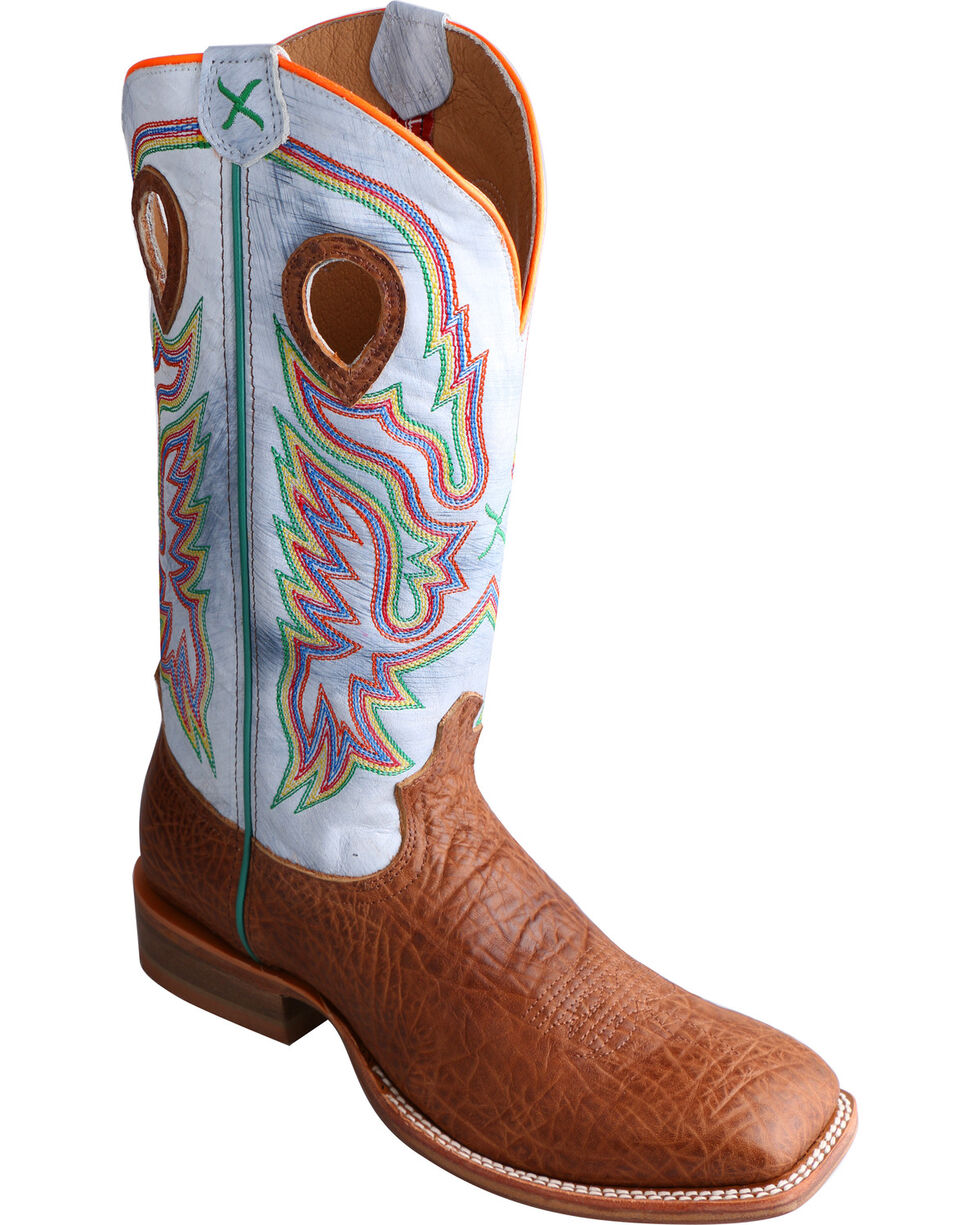 Twisted X Men's Ruff Stock Wide Square Toe Western Boots, Peanut, hi-res