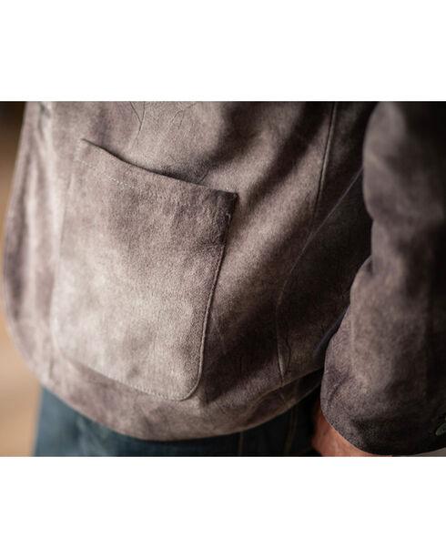Ryan Michael Men's Grey Suede Leather Blazer , Grey, hi-res