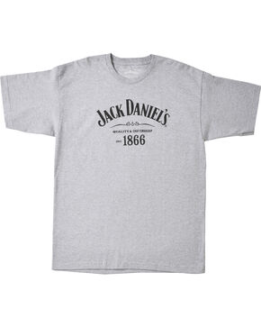 Jack Daniel's Men's 1866 Short Sleeve T-Shirt, Grey, hi-res