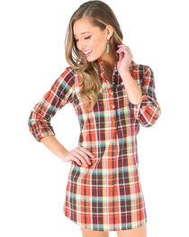 Wrangler Women's Rust Copper Tunic Snap Dress , , hi-res