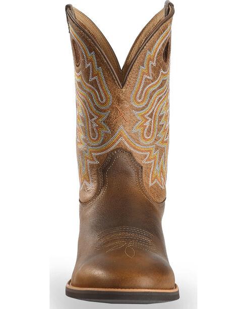 Twisted X Men's Joe Beaver Calf Roper Western Boots, Brown, hi-res
