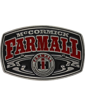 Montana Silversmiths Men's Case IH McCormick Farmall Buckle , Red, hi-res