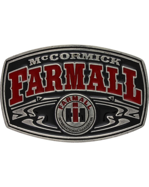 Montana Silversmiths Men's Case IH McCormick Farmall Buckle , Red, hi-res