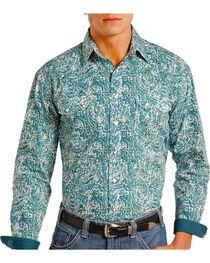 Panhandle Men's Paisley Printed Long Sleeve Shirt, , hi-res