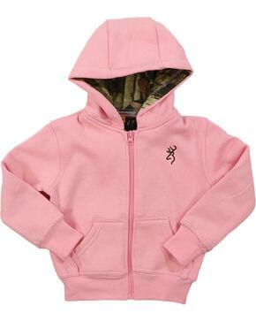 Browning Toddler Girl's Buckmark Camo Lined Sweatshirt, Light/pastel Pink, hi-res