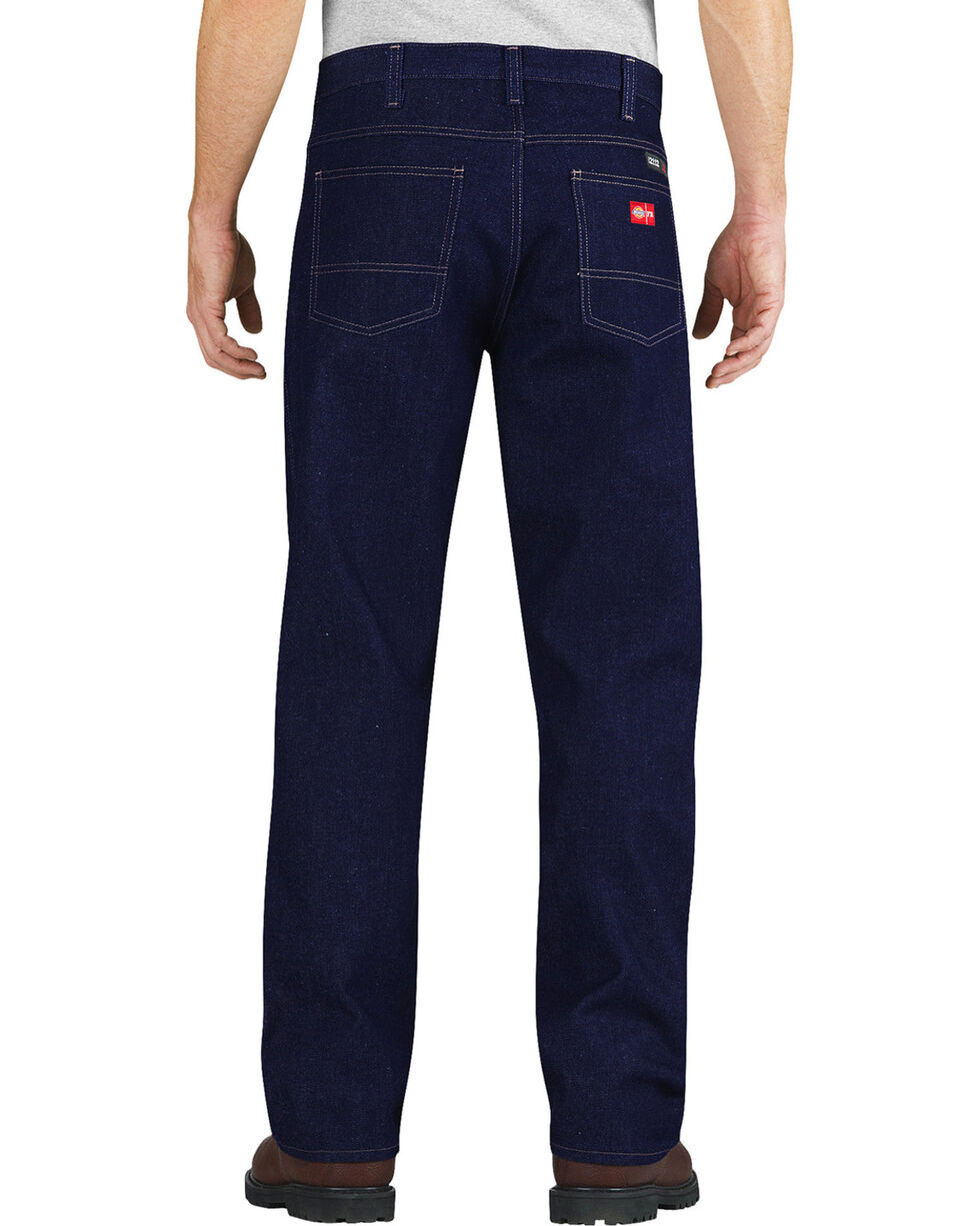 Dickies Relaxed Fit Straight Leg Flame-Resistant 5-Pocket Jeans, Blue, hi-res