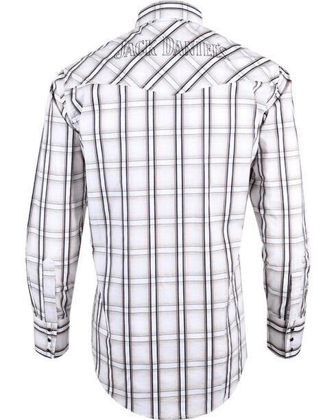 Ely Cattleman Men's Jack Daniel's Plaid Long Sleeve Western Shirt, Tan, hi-res