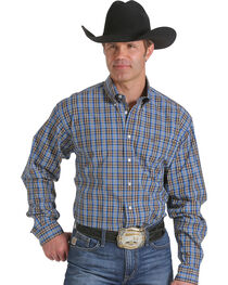 Cinch Men's Plaid Check Long Sleeve Shirt, , hi-res