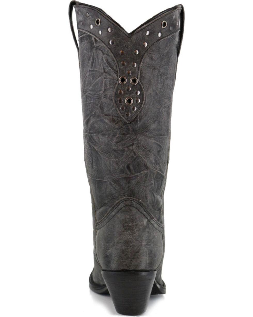 Durango Women's Crush Punk Studded Western Boots, Black, hi-res