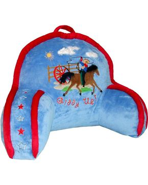 Carstens Giddy Up Cowboy Lounge Pillow, Blue, hi-res