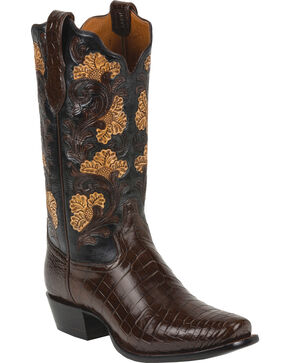 Tony Lama Men's Signature Crocodile Exotic Boots, Kango, hi-res