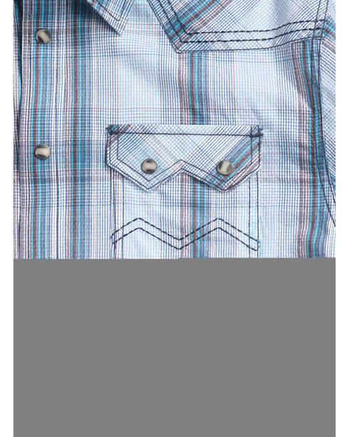 Cody James Men's Ghost Town Plaid Long Sleeve Shirt, White, hi-res