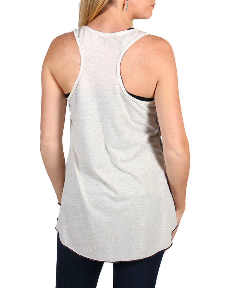Shyanne Women's Live To Ride Tank Top , Ivory, hi-res