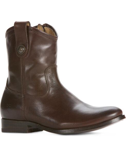 Frye Melissa Button Short Boots, Dark Brown, hi-res