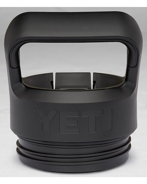 Yeti Black Rambler Bottle Straw Cap , Black, hi-res