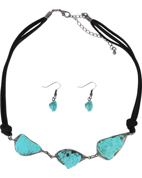 Shyanne® Women's Stone Trio Jewelry Set , Turquoise, hi-res