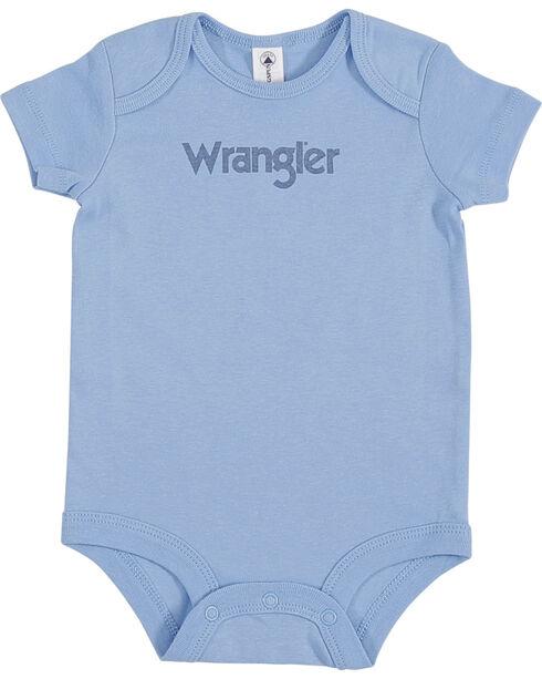 Wrangler Infant Boys' Logo Onesie, Blue, hi-res