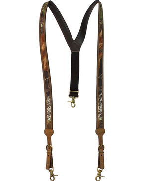 Nocona Mossy Oak Leather Suspenders, Assorted, hi-res