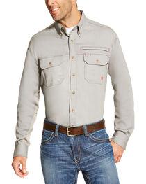 Ariat Men's Fire Resistant Solid Vent Long Sleeve Work Shirt, , hi-res