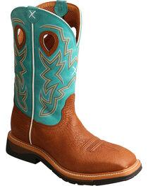 Twisted X Men's Cognac Lightweight Work Boots - Steel Toe , , hi-res